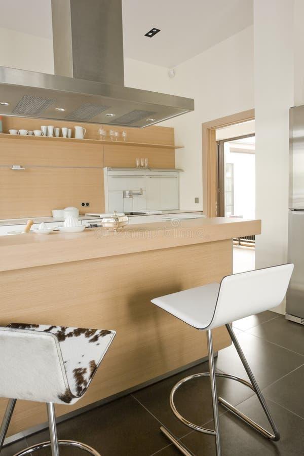 Interior of a kitchen stock photos