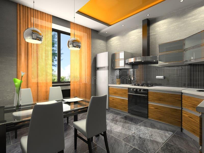 Interior of the kitchen royalty free illustration