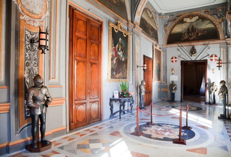 Interior of Knight's Palace royalty free stock image