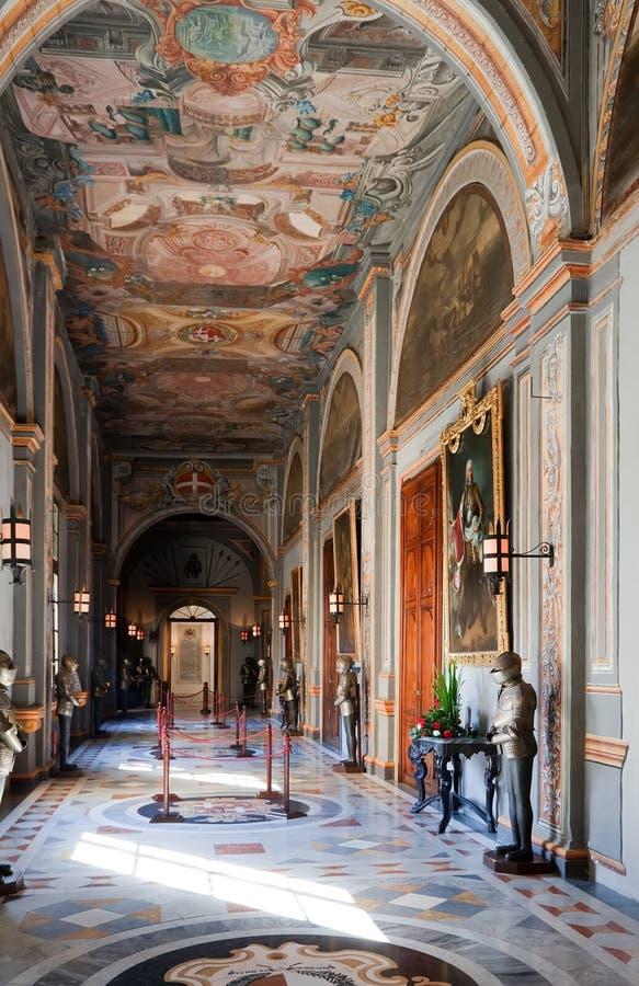 Interior of Knight's Palace royalty free stock photos