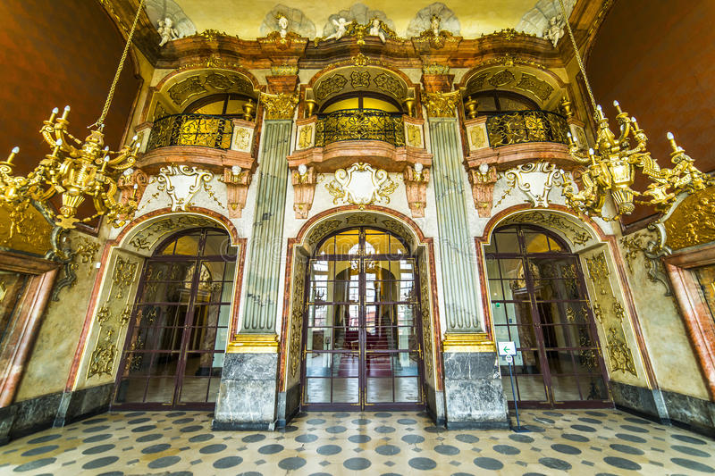Interior of Ksiaz Castle royalty free stock images
