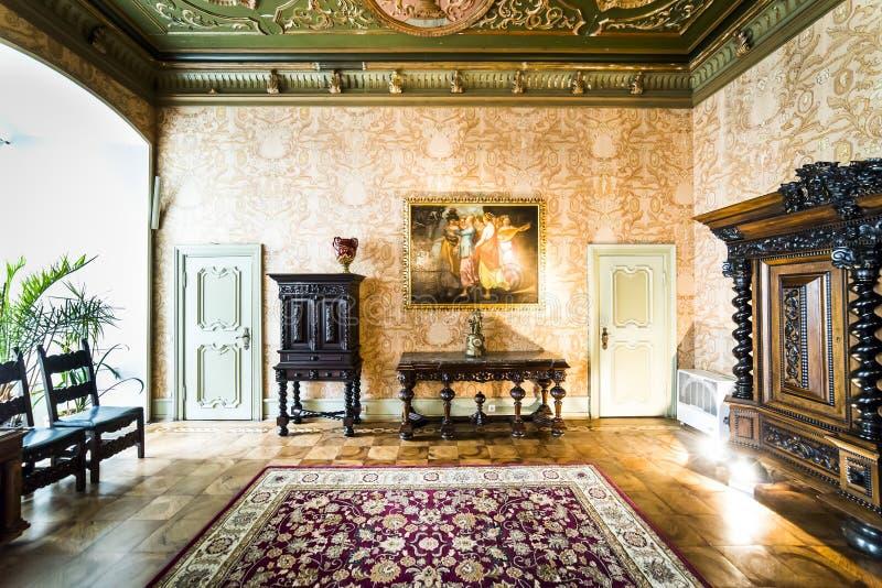 Interior of Ksiaz Castle stock photo