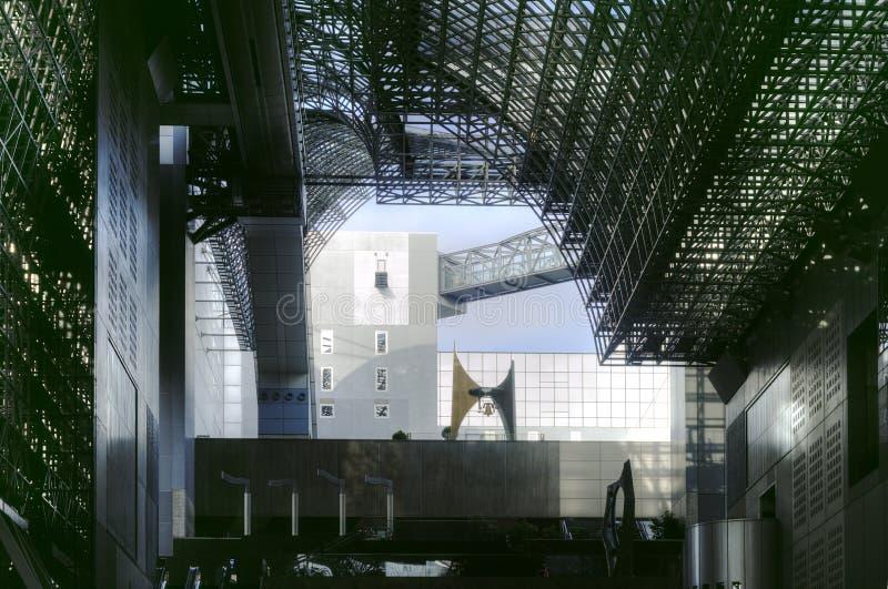 Kyoto railway station interior, Japan royalty free stock photo