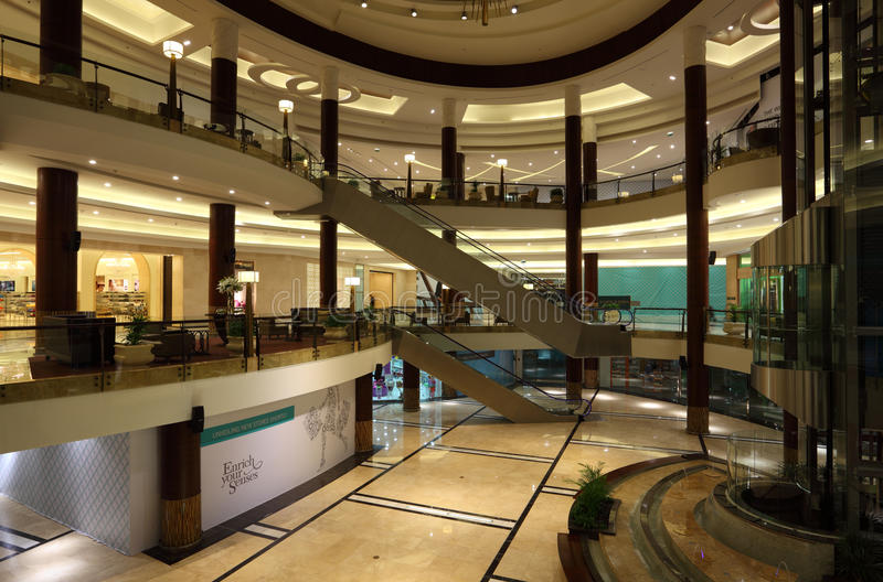 Interior of Lagoona Mall in Doha royalty free stock images