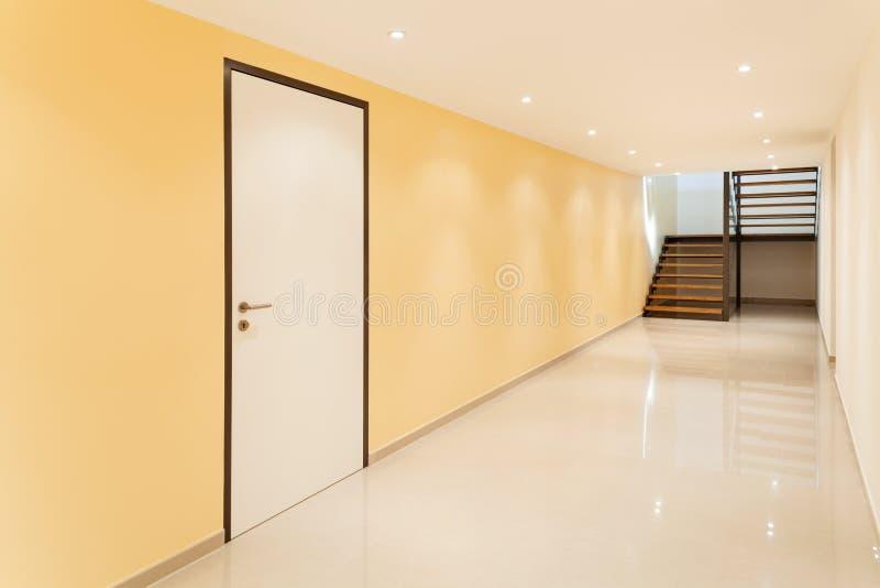 Interior, large corridor stock photography