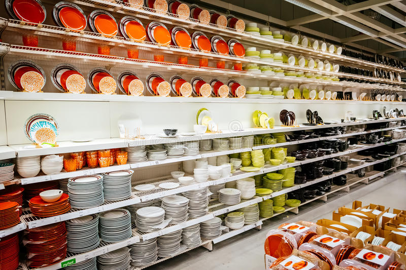 Interior of large IKEA store with a wide range of products in Malmo, Sweden. MALMO, SWEDEN - JANUARY 2, 2015: Interior of large IKEA store with a wide range of stock photos