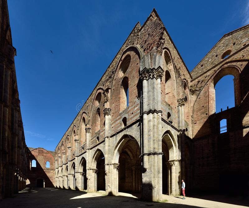Abbey of San Galgano, Tuscany, Italy stock photo
