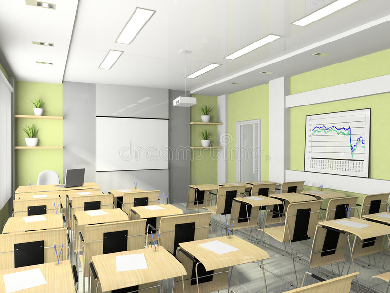 Interior Of The Lecture Room Stock Illustration