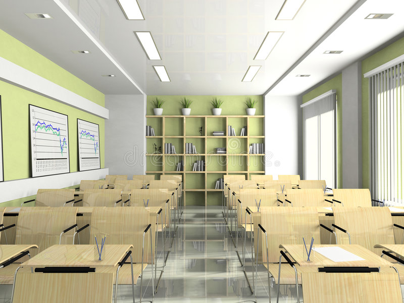 Download Interior Of The Lecture-room Stock Illustration - Image: 3497146