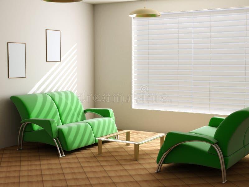 Interior in light tones stock illustration
