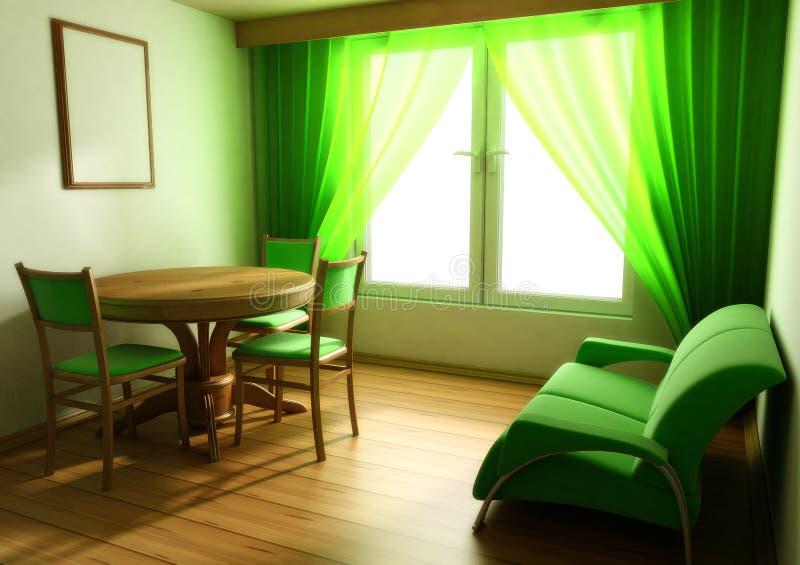 Interior in light tones sofa table window royalty free stock photos