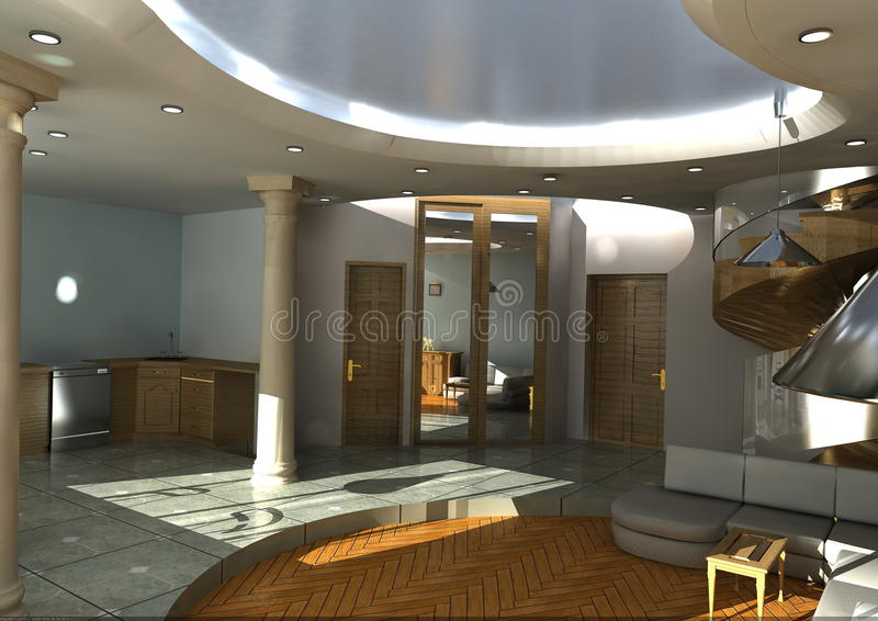 Download Interior-lighting daylight stock illustration. Illustration of elegance - 13535469