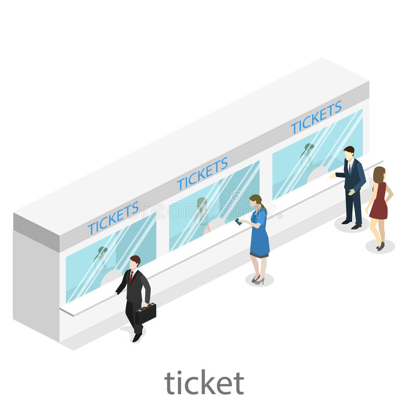 Interior liso isométrico do conceito 3D da estação de metro do metro ilustração do vetor