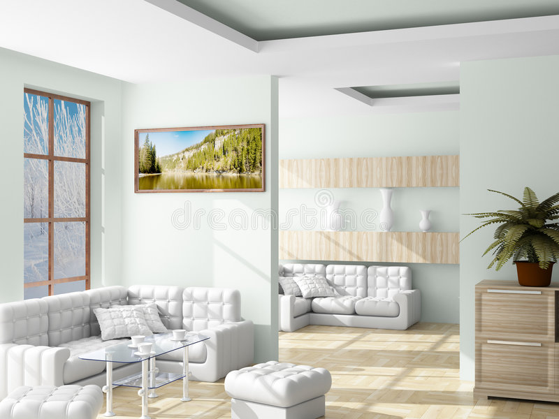 Download Interior Of A Living Room. Royalty Free Stock Photo - Image: 8146305