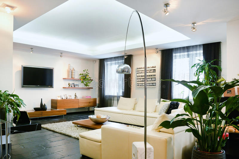 Interior living room stock images