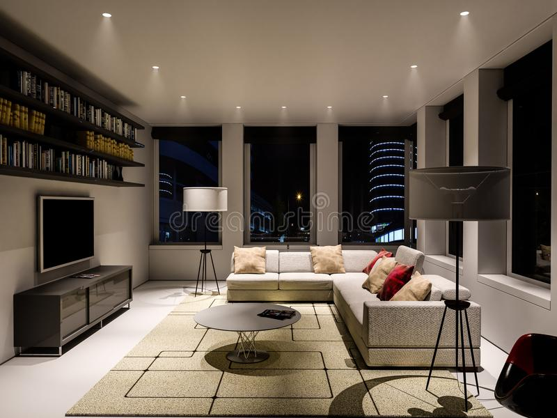 The interior of the living room stock image