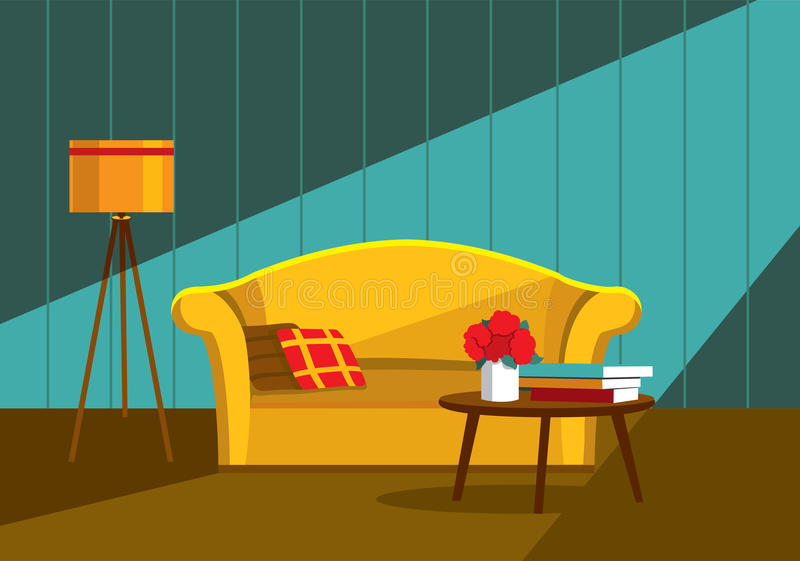 Interior living room royalty free illustration
