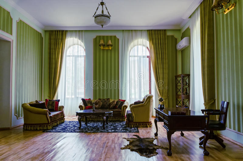 Interior living. Room in the old style royalty free stock photos