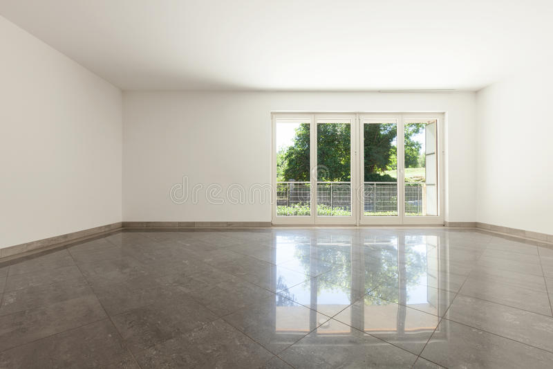 Interior, living with window stock photo