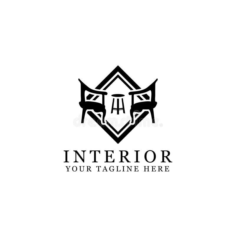 Interior logo design vector illustration