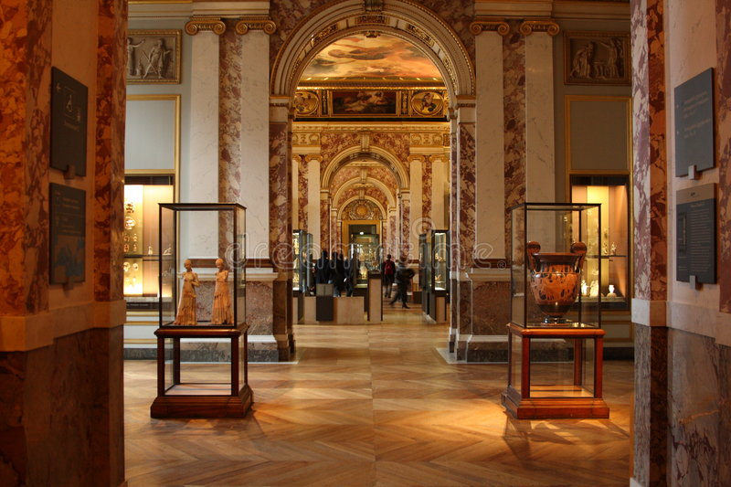 Download Interior - Louvre editorial stock image. Image of europe - 7795954
