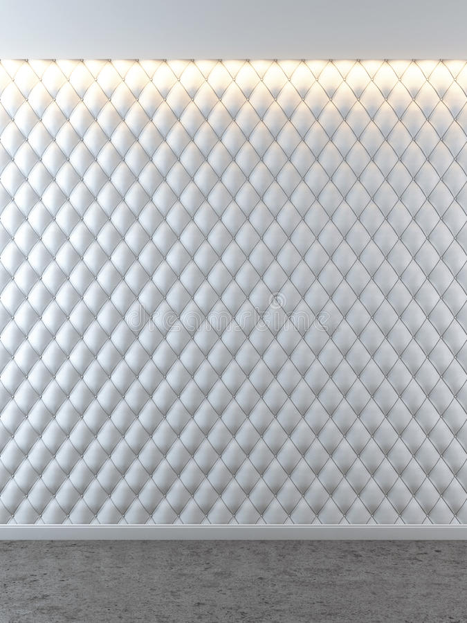Interior lujoso blanco con las paredes de cuero ilustración del vector
