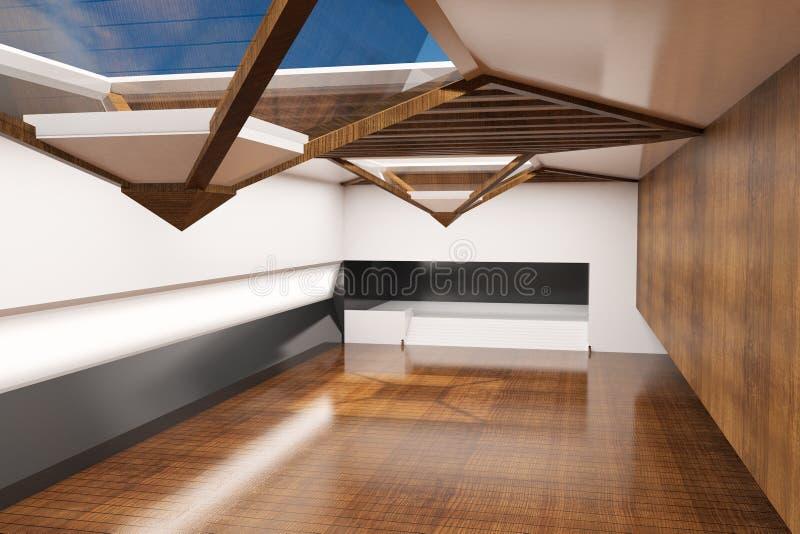 Interior lujoso moderno libre illustration