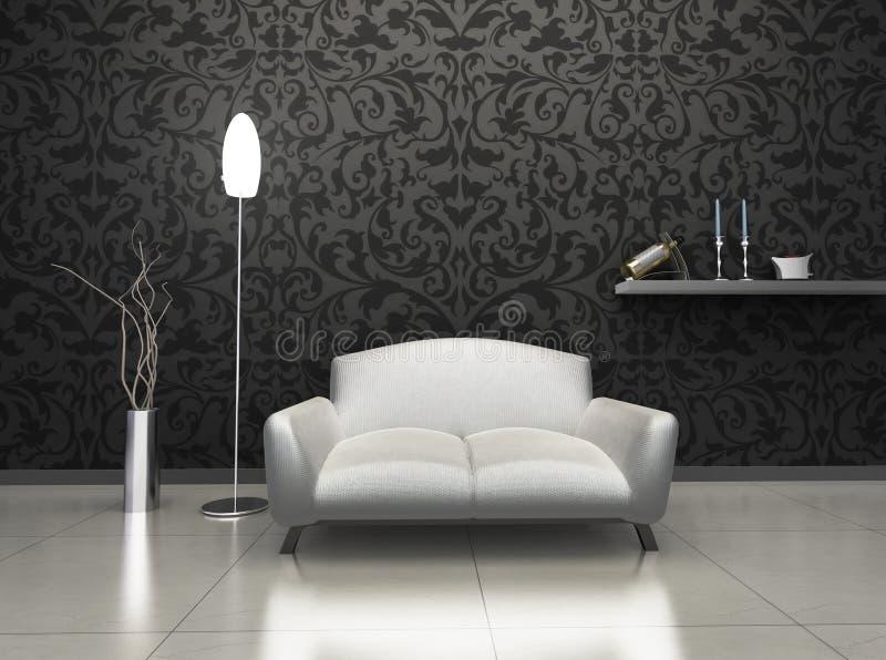 Interior luxuoso ilustração stock