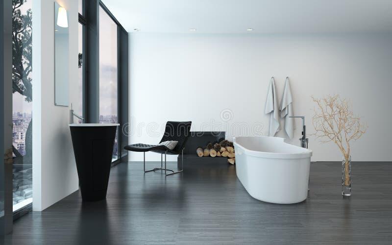 Interior luxuoso contemporâneo moderno do banheiro imagens de stock royalty free