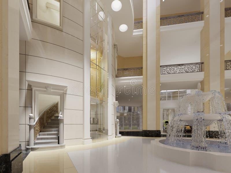 Interior luxuoso da entrada ilustração royalty free