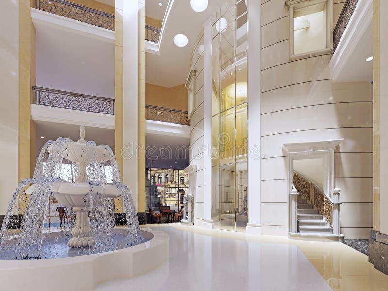 Interior luxuoso da entrada ilustração stock
