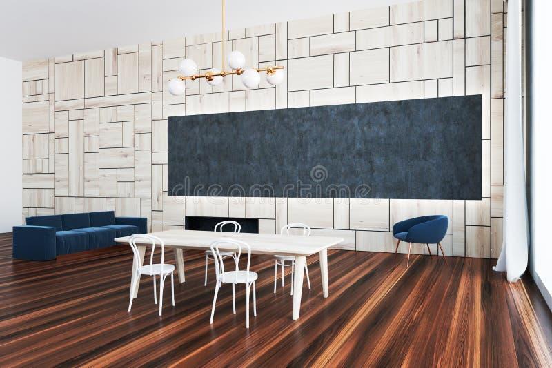 Interior luxuoso da sala de jantar do sótão ilustração stock