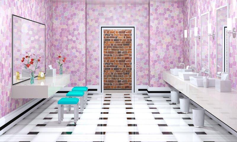 Interior luxuoso do banheiro ilustração royalty free