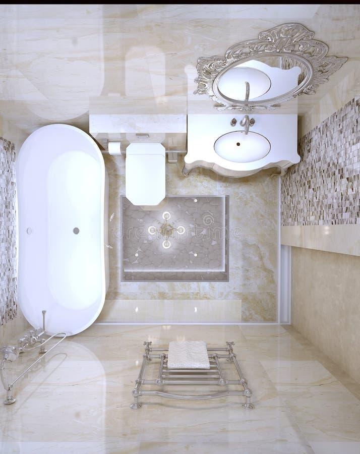 Interior luxuoso do banheiro fotos de stock