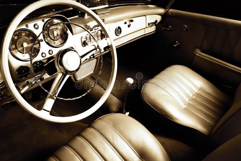 Interior luxuoso do carro foto de stock