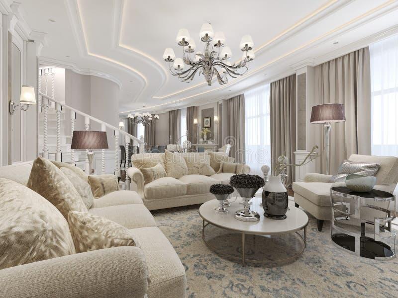 Interior luxuoso do estúdio ilustração royalty free