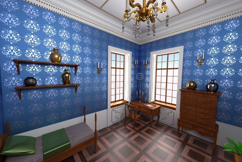 Interior luxuoso do solar ilustração do vetor