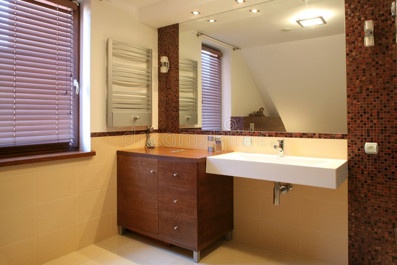 Interior of luxurious bathroom royalty free stock image