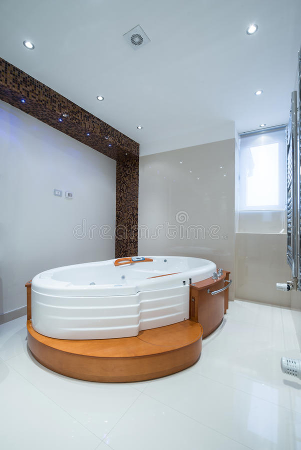 Interior of a luxury bathroom with jacuzzi tub stock photo - Jacuzzi para interior ...