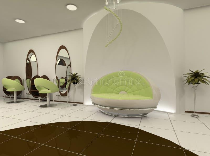 Interior of luxury beauty salon vector illustration