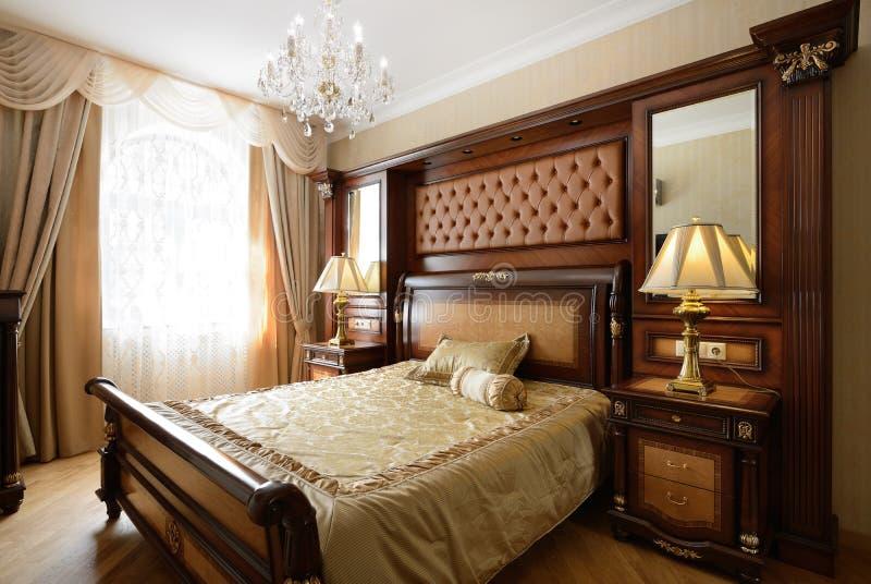 Interior of a luxury bedroom. Bedroom Interior Design. Luxury Interiors of Homes stock photo