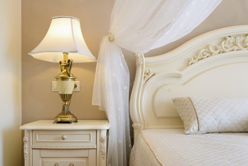 Interior of a luxury bedroom. Bedroom Interior Design. Luxury Interiors of Homes stock image