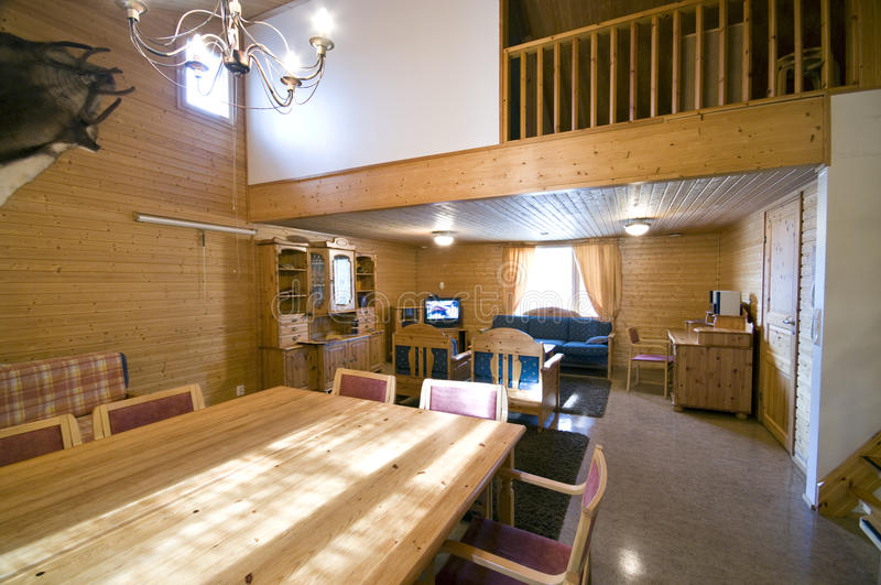 Interior of luxury cabin royalty free stock photography