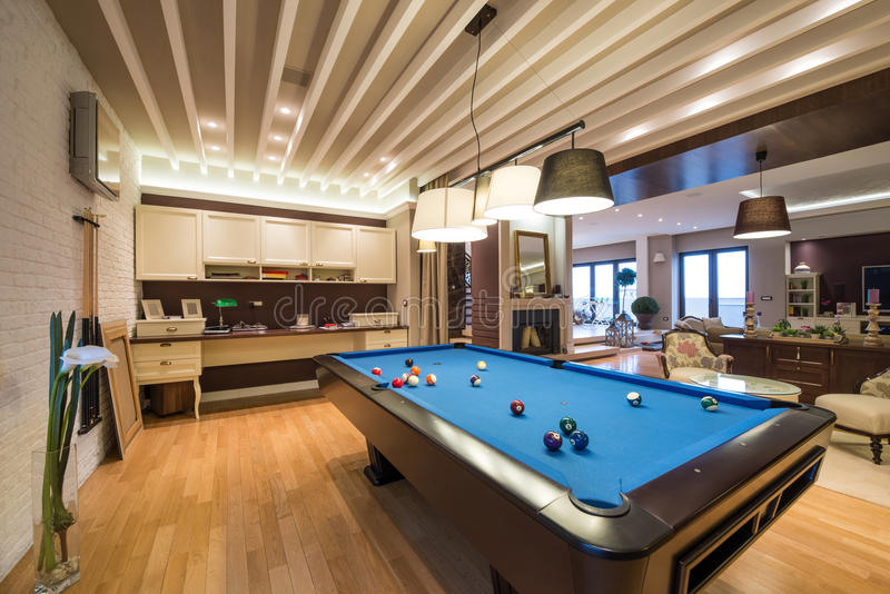 Download Interior Of A Luxury Living Room With Pool Table Stock Photo    Image: 62248200 Part 86