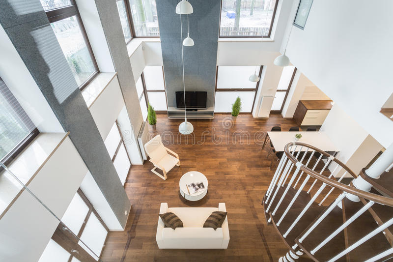 Interior of luxury residence royalty free stock images