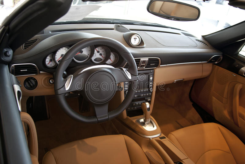 Interior_Luxury_Sports_Car stock photography