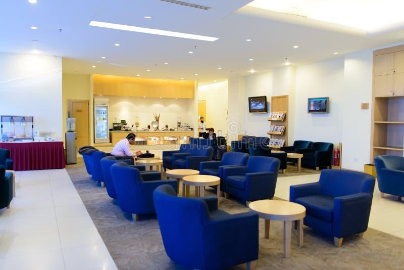 Interior malaio da sala de estar da linha aérea imagens de stock royalty free