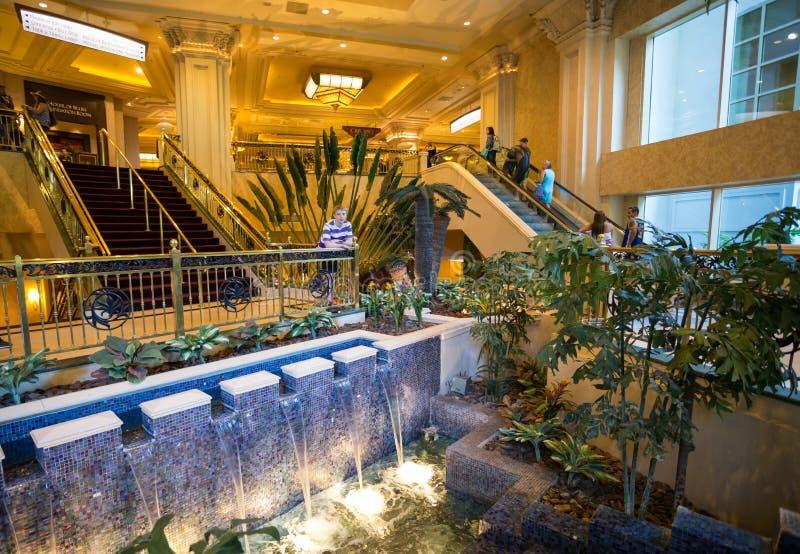 Interior of Mandalay Bay Resort, Hotel and Casino royalty free stock photography