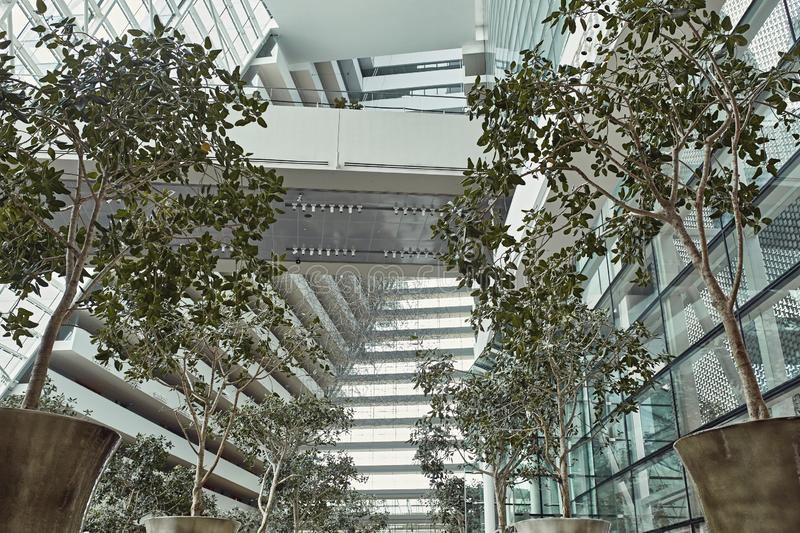 Interior of the Marina Bay Sands, Singapore royalty free stock images