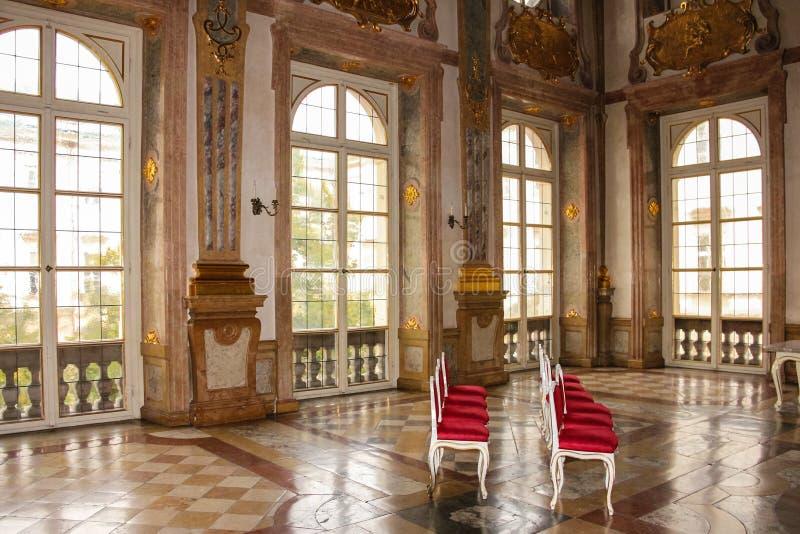 Interior. Marmorsaal. Mirabell palace. Salzburg. Austria. Interior. Marmorsaal (marble room) in Mirabell palace. Salzburg. Austria royalty free stock image